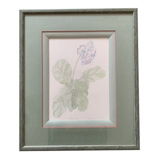 1990s Floral Study Watercolor Painting, Framed For Sale