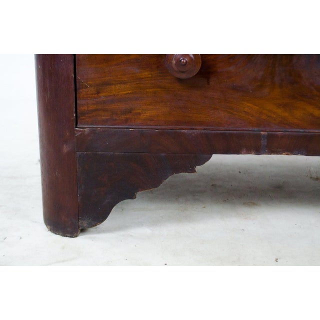 19th Century Victorian Drop Well Marble Top Dresser For Sale - Image 10 of 13