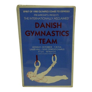 "Danish Gymnastics ""Spirit of 1980 Olympics"" Team Poster For Sale"