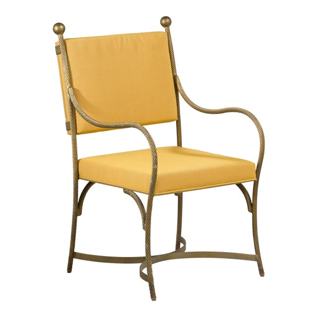 A Set of Three Heavy Simulated Rope Metal Chairs 1960s For Sale