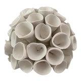 Image of White Modern Handmade Ceramic Sculpture For Sale
