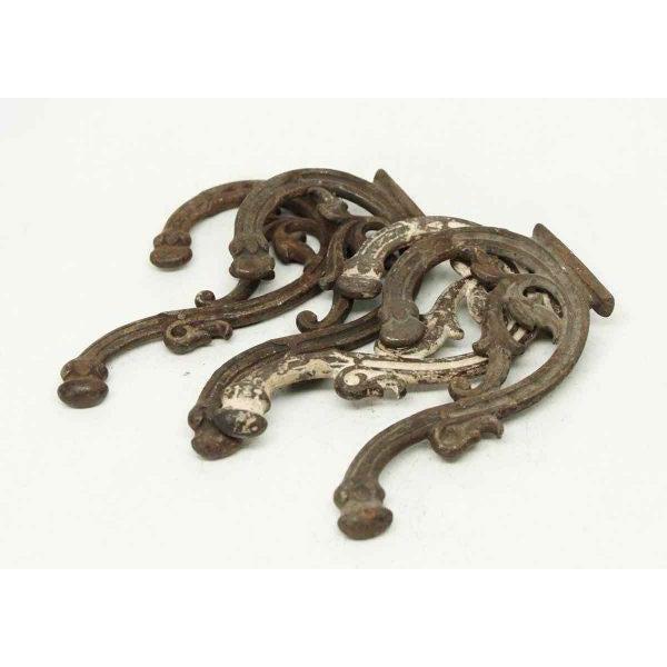 Iron Bracket Double Hooks - Set of 4 - Image 2 of 4