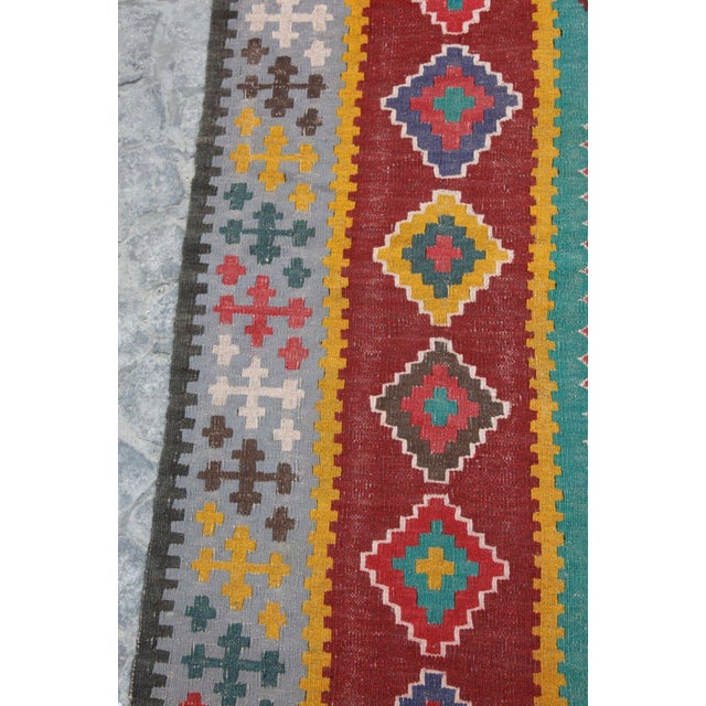 Antique Turkish Wool Kilim Rug - 4′5″ × 6′3″ For Sale In Baltimore - Image 6 of 7