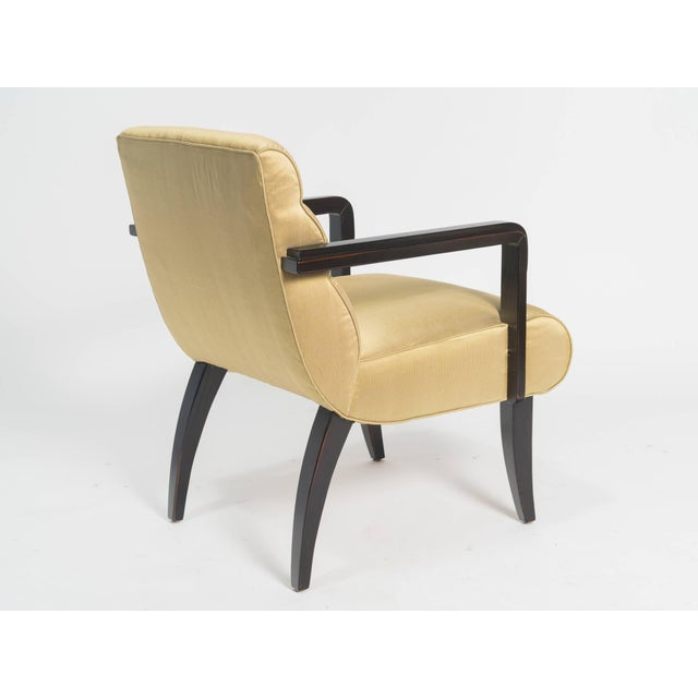 Swaim Early 21st Century Swaim Deco Style Armchairs- a Pair For Sale - Image 4 of 8
