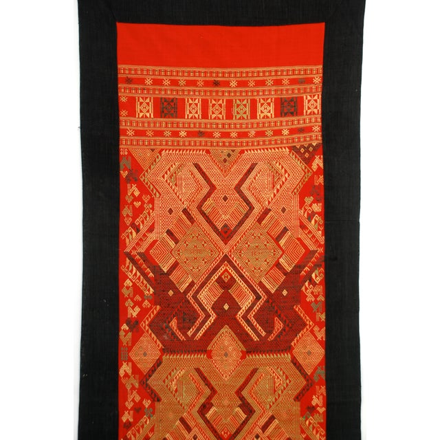Asian Vintage Laotian Tribal Textile For Sale - Image 3 of 4