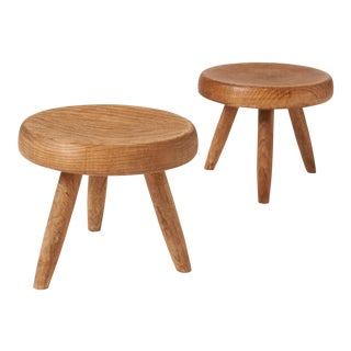 Pair of Low Stools by Charlotte Perriand For Sale