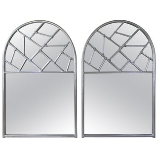 Vintage Art Deco Cracked Ice Mirrors - a Pair For Sale