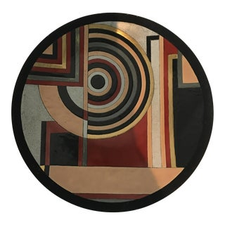 Mid-Century Geometric Centerpiece Plate