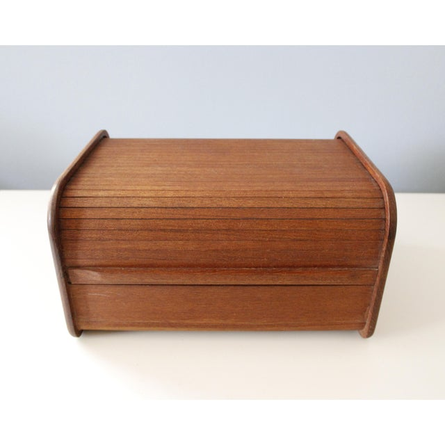 Vintage Kalmar teak tambour storage box. It has two separated sections each with four removable dividers which I believe...