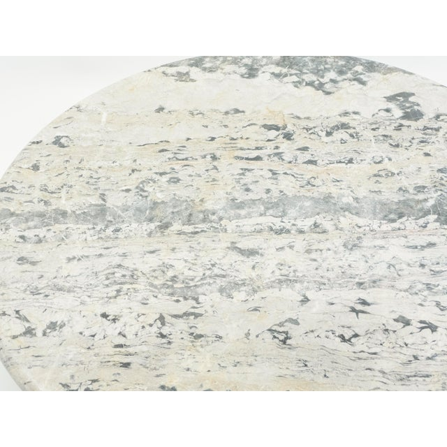 Stone French Round Sicilian Marble Coffee Table For Sale - Image 7 of 13