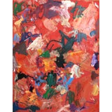 Image of Abstract Oil Painting by Sean Kratzert 'Red Rover' For Sale