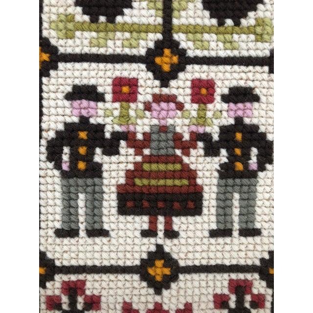 Folk Art Vintage Swedish/Scandinavian Wall Hanging/Tapestry For Sale - Image 3 of 5