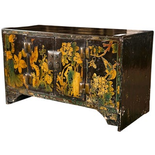 Miniature Chinoiserie Style Wooden Table Top Chest For Sale