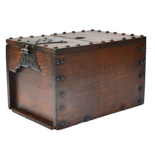 Antique Japanese Ship Chest Zenibako Money Box For Sale