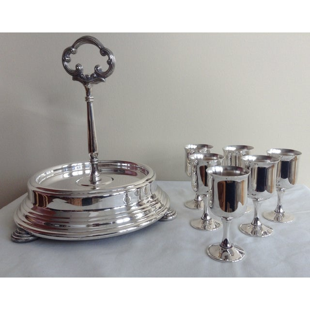 Silver Taunton Silver Cordials & Caddy Holder For Sale - Image 8 of 10