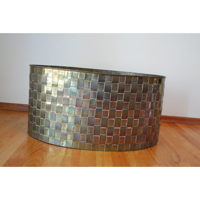 Extra Large Brass Planter by Chapman - Image 3 of 11