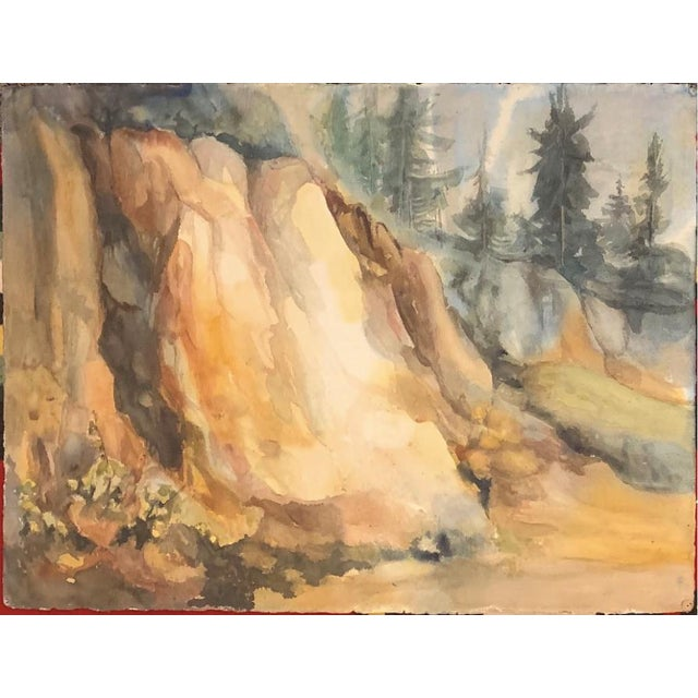 Bay Area Artist Landscape Mountain Side Painting For Sale - Image 4 of 4