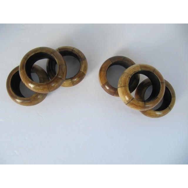 Primitive Wood Napkin Rings - Set of 6 For Sale - Image 3 of 4