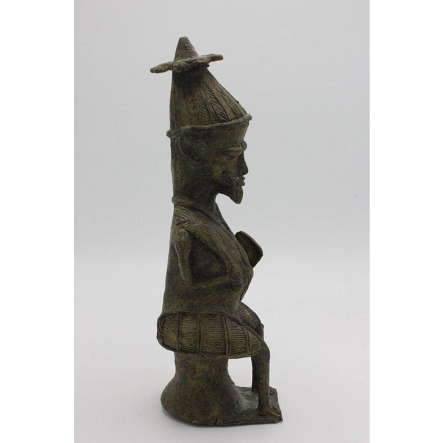 Yoruba Brass Figures for the Ogboni Cult, Nigeria - a Pair For Sale - Image 4 of 13