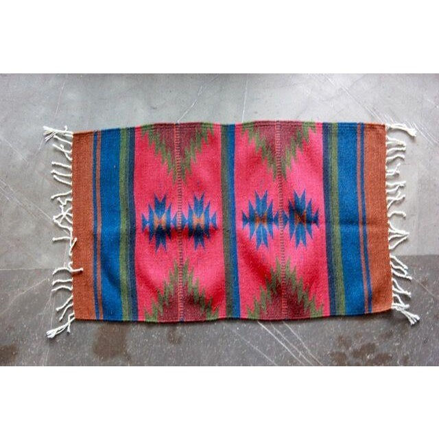 """Mexican Pedal-Loom Red Rug - 2' x 3'3"""" - Image 2 of 4"""