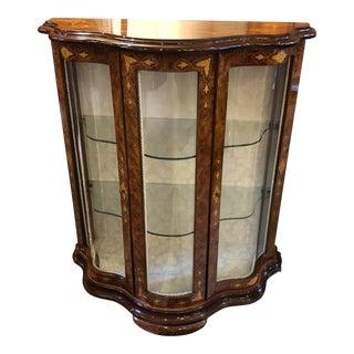 Italian Mahogany Marquetry Display Cabinet