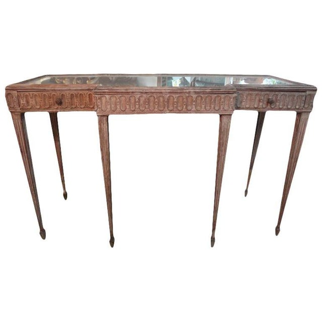Tan 1920's French Louis XVI Style Neoclassical Console Table For Sale - Image 8 of 8