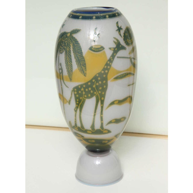 Swedish Studio Glass Vase by Wilke Adolfsson For Sale In New York - Image 6 of 9