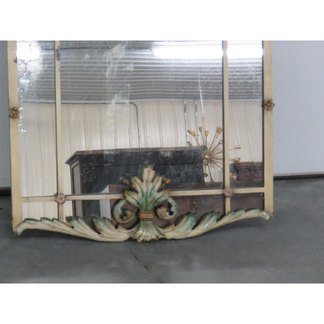 Yellow Venetian Style Wrought Iron Console and Mirror For Sale - Image 8 of 12