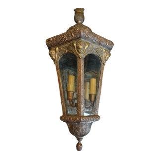 Vintage French Embossed Lantern For Sale