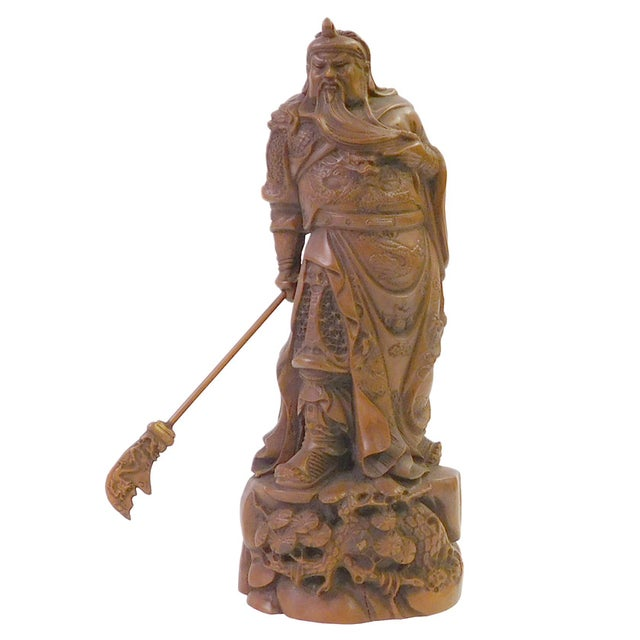 Chinese Wood Carved General Guan Statue - Image 1 of 6