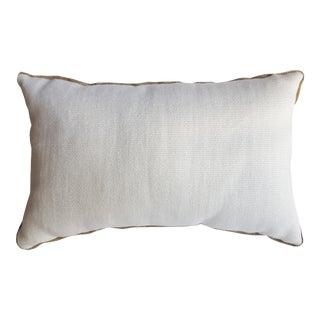 Canvas & Burlap Lumbar Pillow For Sale