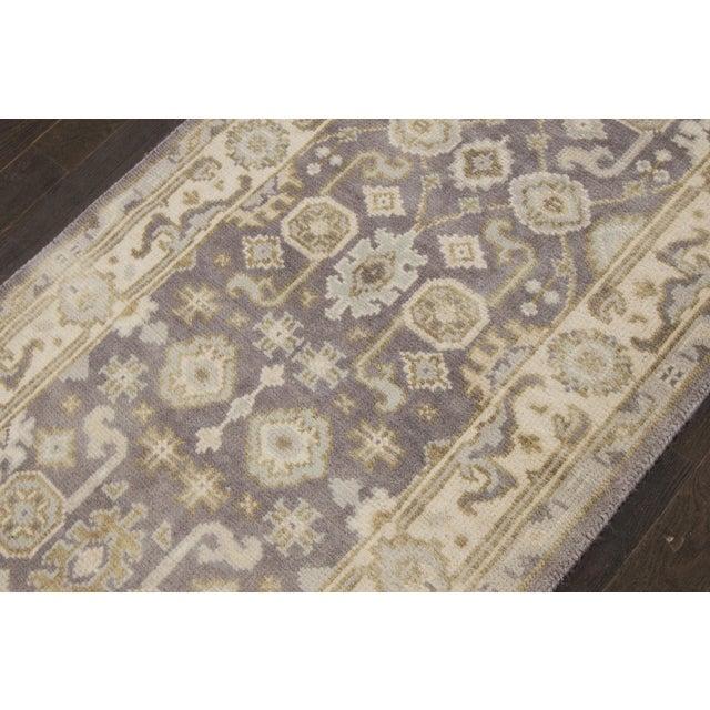 """Textile Apadana - 21st Century Oushak Style Rug, 2'7"""" x 19'9"""" For Sale - Image 7 of 8"""