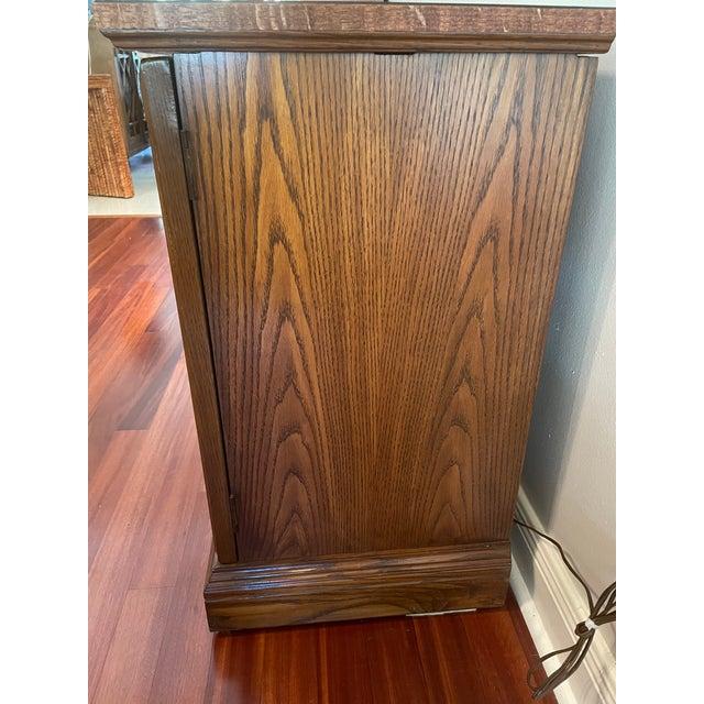 Vintage Brutalist Dry Bar Cabinet For Sale - Image 9 of 12