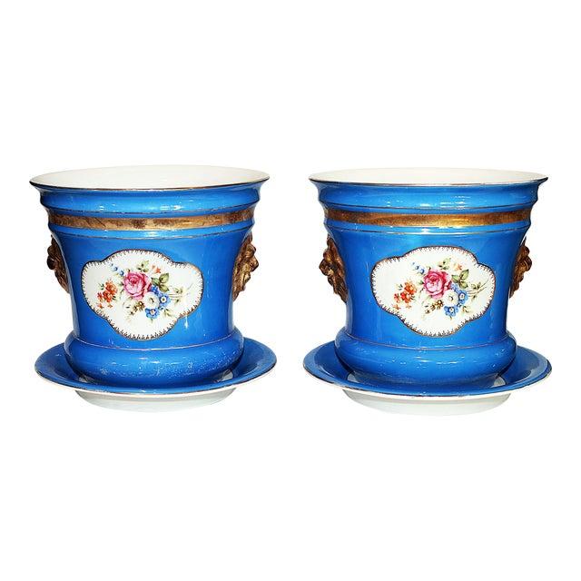 Carl Tielsch Porcelain Planters - A Pair - Image 1 of 7