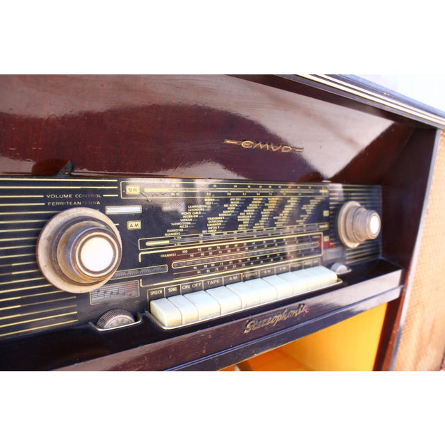 Mid Century German Emud Stereo Console For Sale - Image 10 of 11