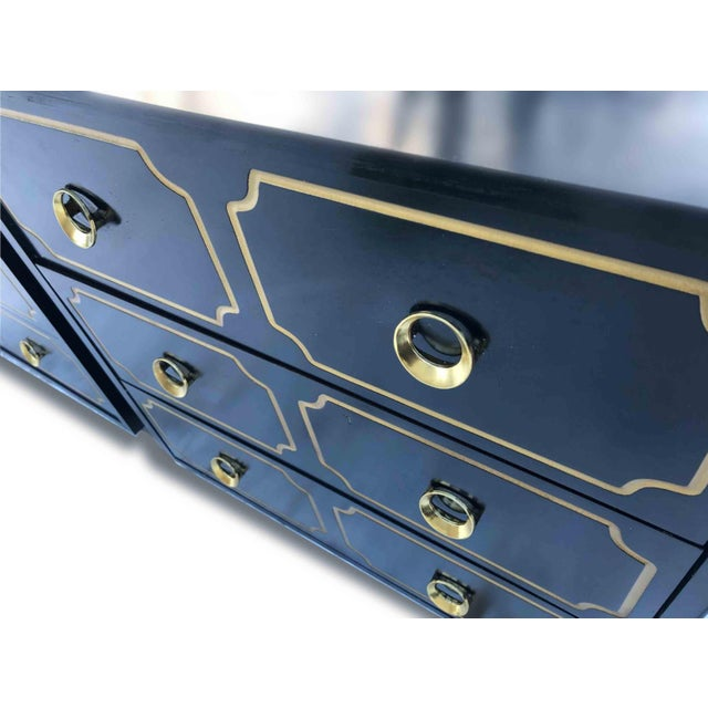 """Gold 1970s Hollywood Regency Dorothy Draper Style """"Espana"""" Bunching Chests - a Pair For Sale - Image 7 of 11"""