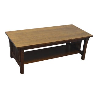 Stickley Oak Coffee Cocktail Table For Sale