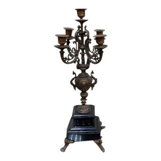 1900s French Provincial Brass Candelabra For Sale