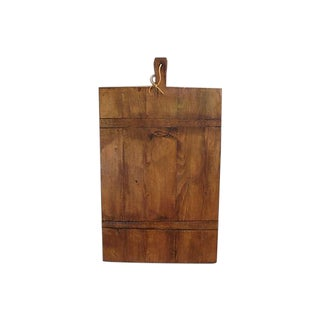 Large Antique French Bread Cutting Culinary Board For Sale