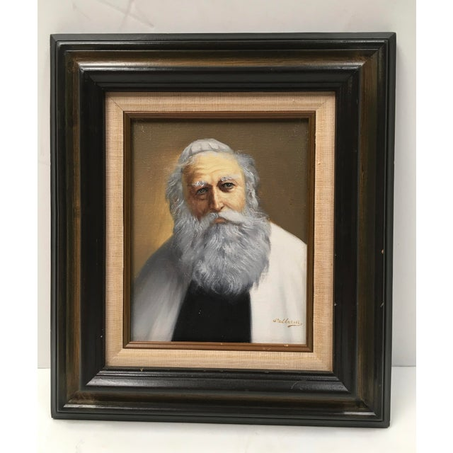 Pelbam Original Signed Oil Painting of Rabbi - Image 2 of 6