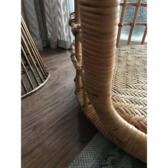 Vintage Hanging Rattan Egg Chair - Image 7 of 7