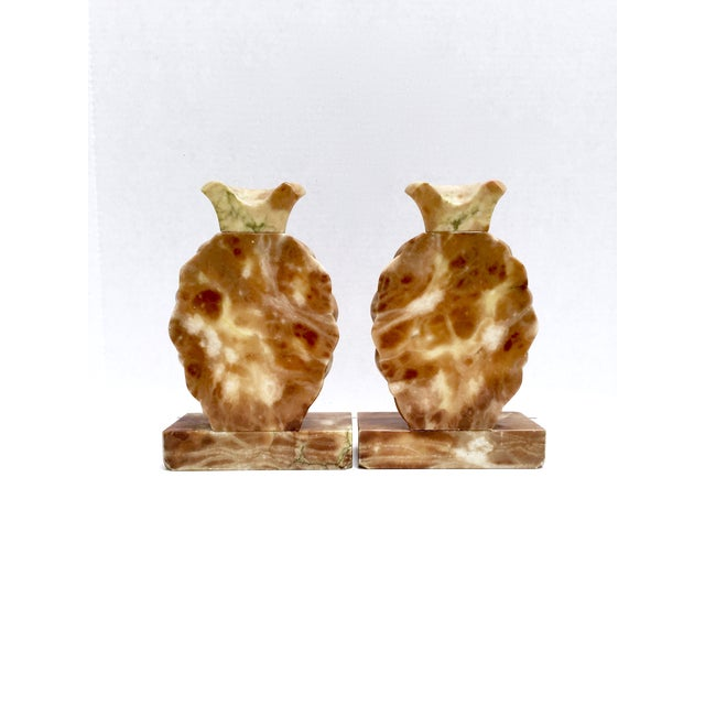 Onyx Stone Pineapple Bookends - Pair - Image 5 of 10