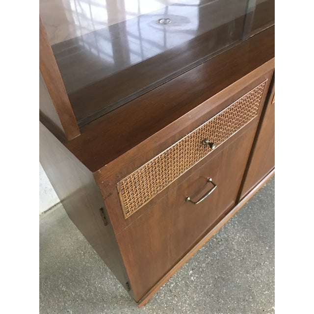 Mid-Century Walnut China Cabinet - Image 6 of 9