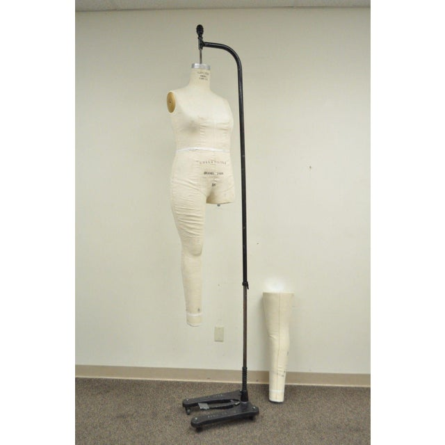 Superior Model 2009 Woman Female Sz 18 Dress Form Mannequin Cast Iron Wolf Stand For Sale In Philadelphia - Image 6 of 11