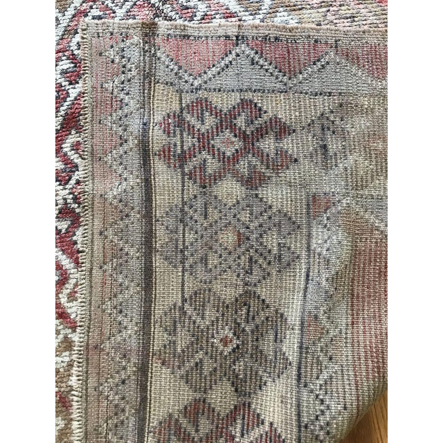 Bellwether Rugs Oushak Red & Earth Tone Patina Rug - 4′1″ × 7′5″ For Sale In Los Angeles - Image 6 of 7
