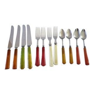 Bakelite Flatware Table Service 12 Pieces For Sale