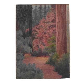 1920s California Redwoods Painting Benjamin Harnett For Sale