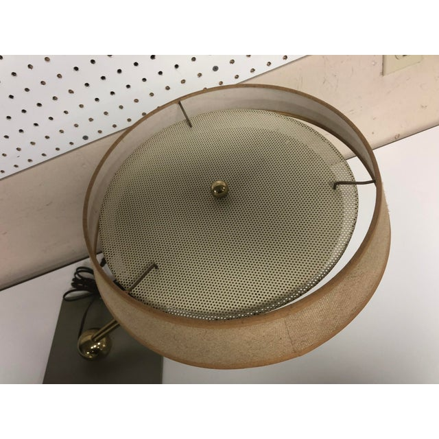 Mid Century Modern Brass Swivel Desk Lamp For Sale - Image 6 of 12