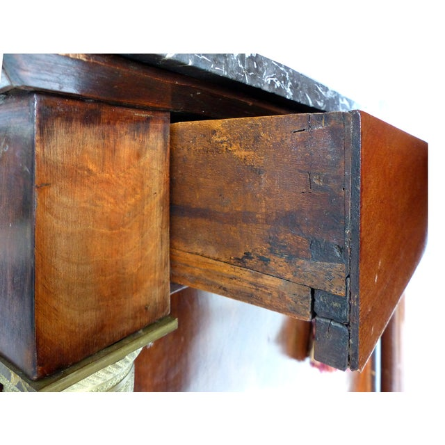 19th C. French Empire Drop-Front Secretary Desk For Sale - Image 9 of 11