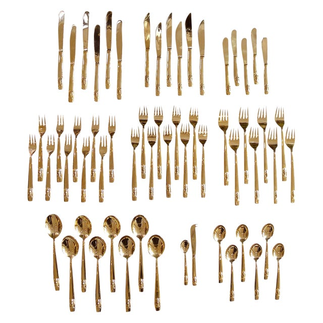 Bronze Flatware Set With Elephant Head Design For Sale